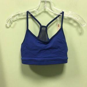 Lululemon blue mesh sports bra sz 6 56989